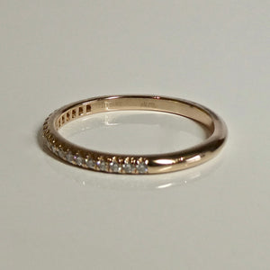 18ct Rose Gold Tiffany & Co Diamond Band 1