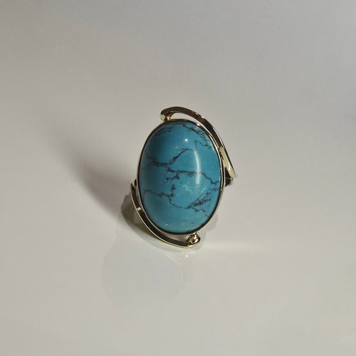 9ct Turquoise Look Ring