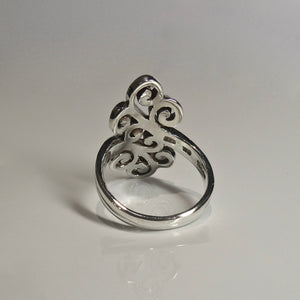 Ornate Curl Ring 925 Silver 4