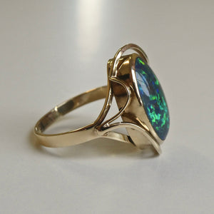 9ct Opal Doublet Ring 1