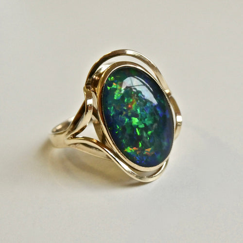 9ct Opal Doublet Ring