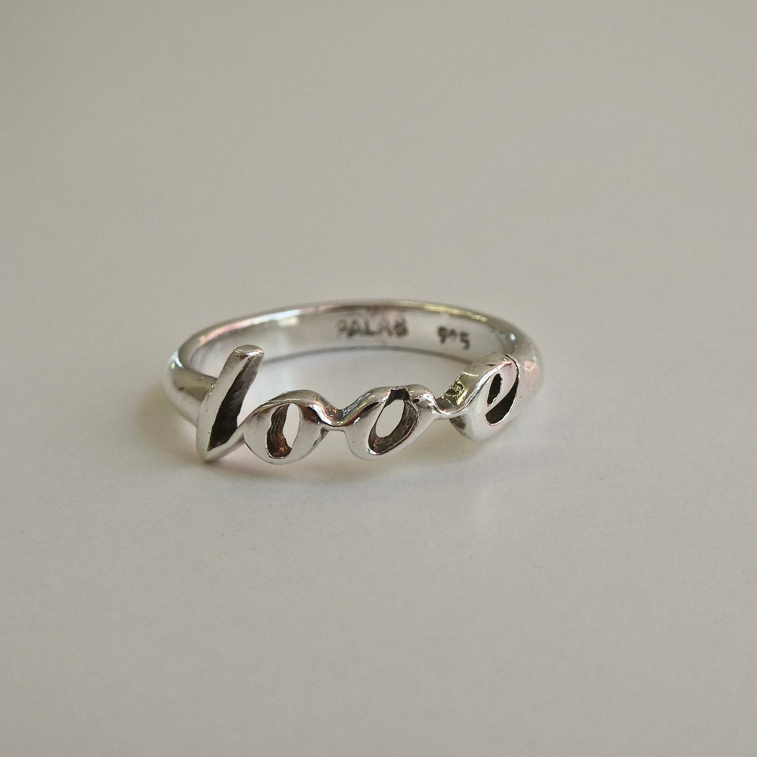 LOVE Ring Solid Sterling Silver PALAS Love Ring at Delross Design Jewellers