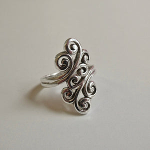 Ornate Curl Ring 925 Silver 1
