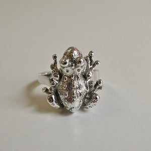 Frog Ring (Moving Legs) 925 Silver