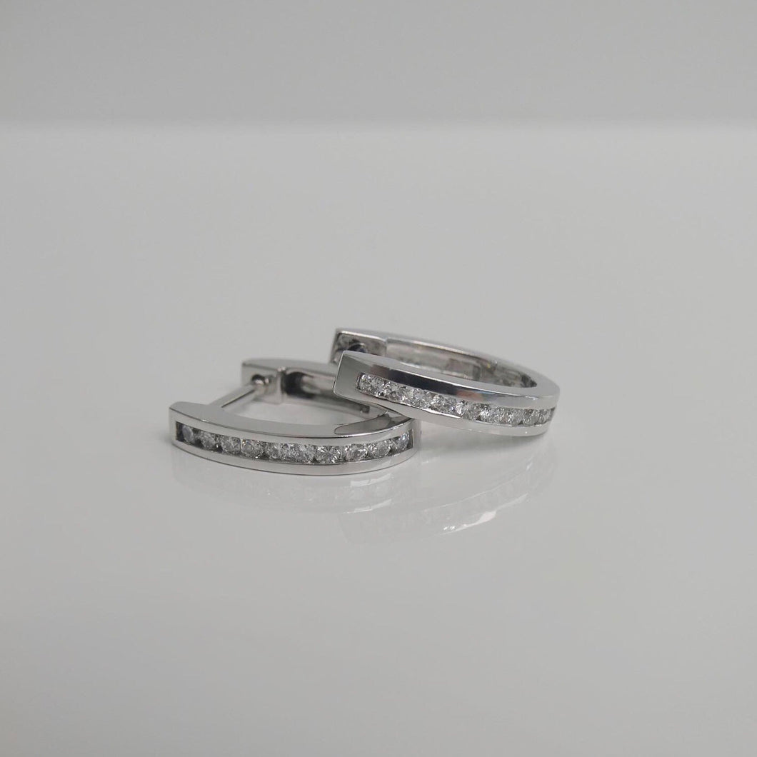 9ct Diamond Huggies 0.25ct TW of Diamonds