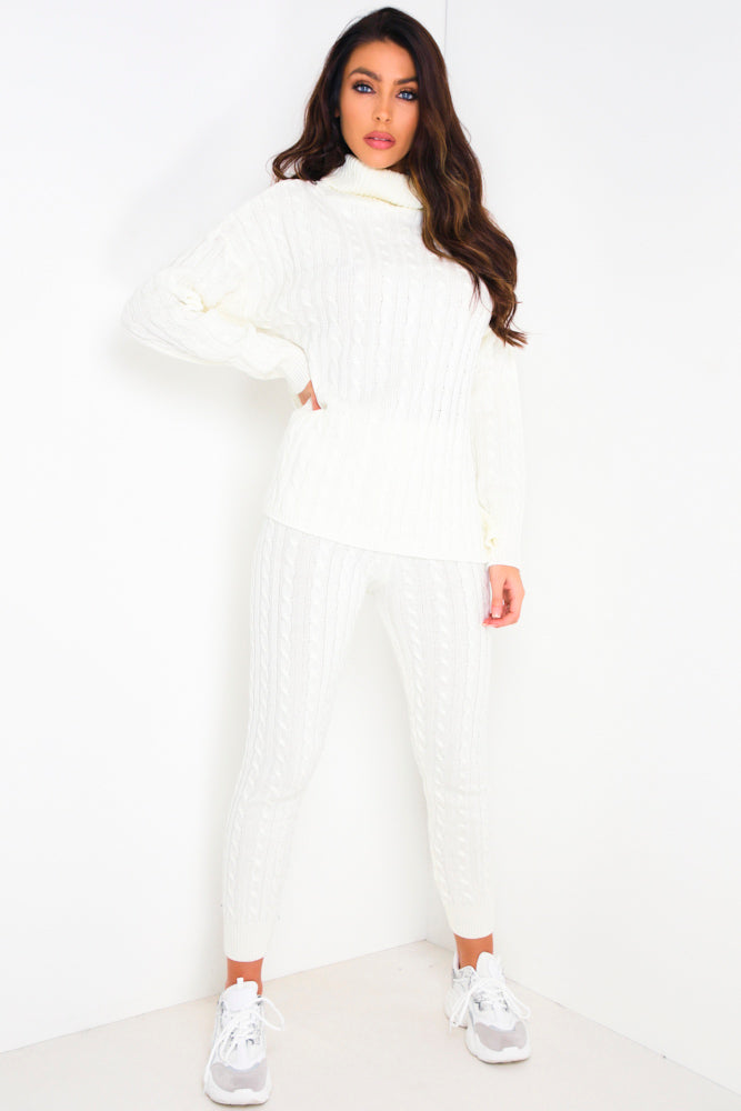 Cream Cable Knit Co-Ord