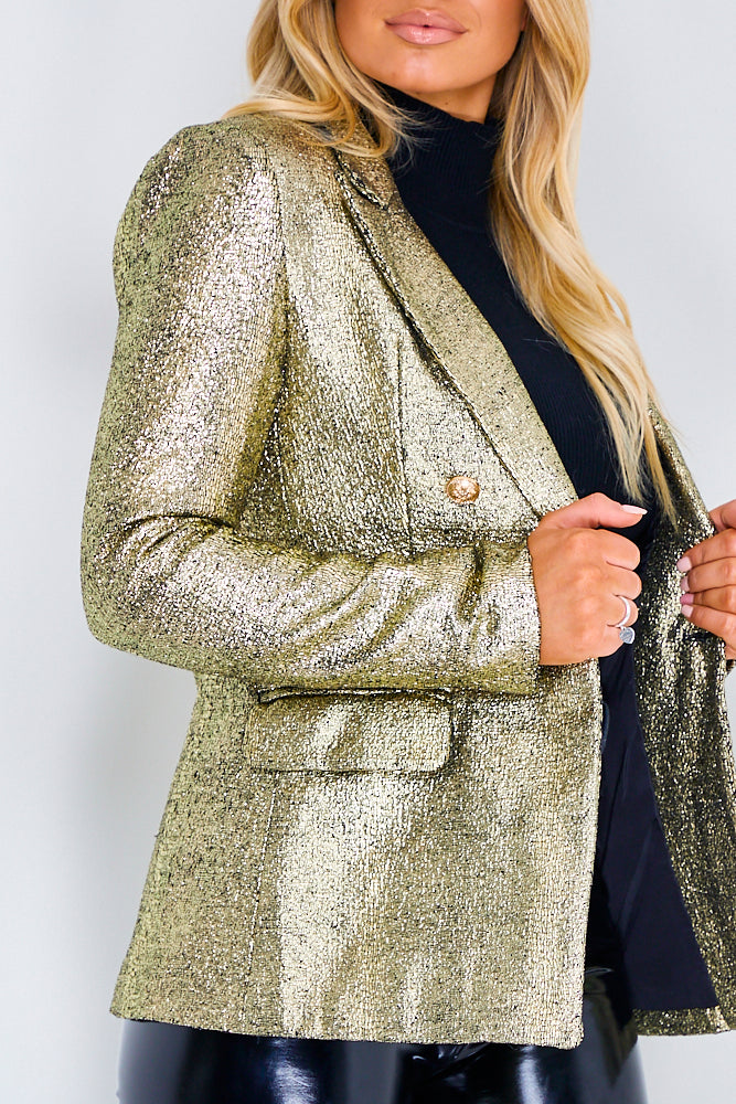 Gold Luxury Glitter Blazer