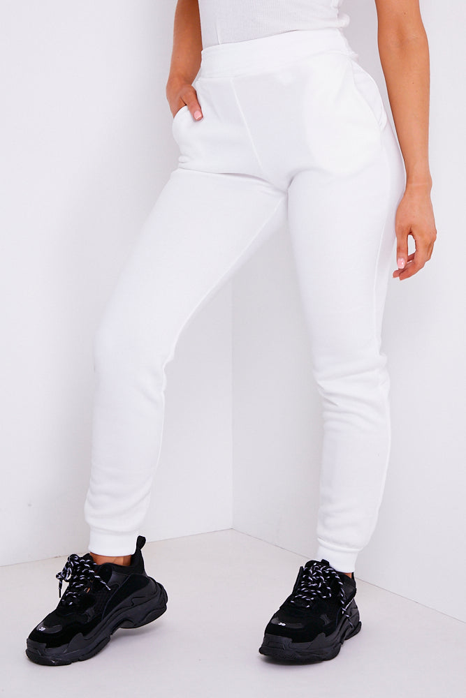White Slim Fit Joggers
