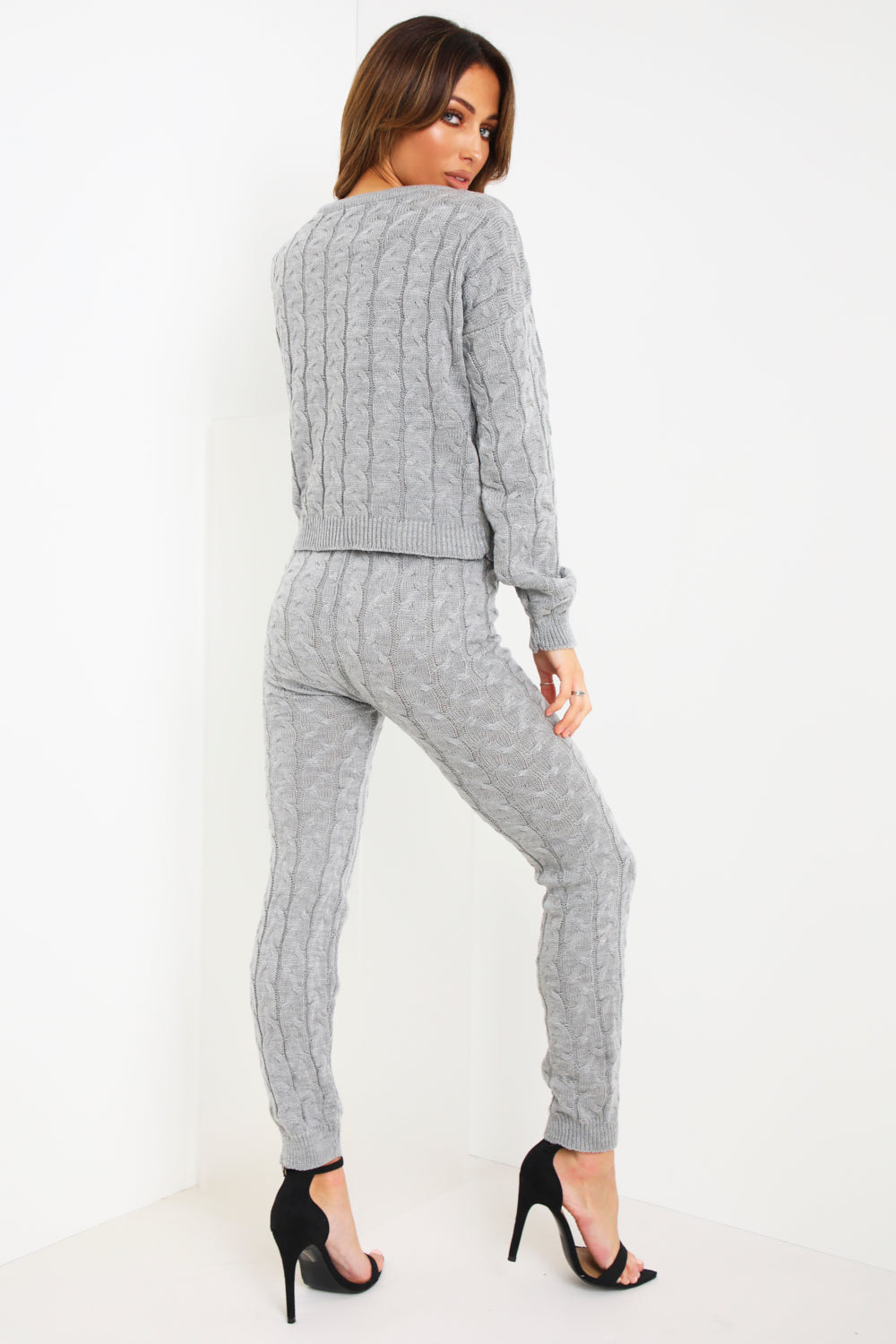 Grey Cable Knitted Co-ord Set