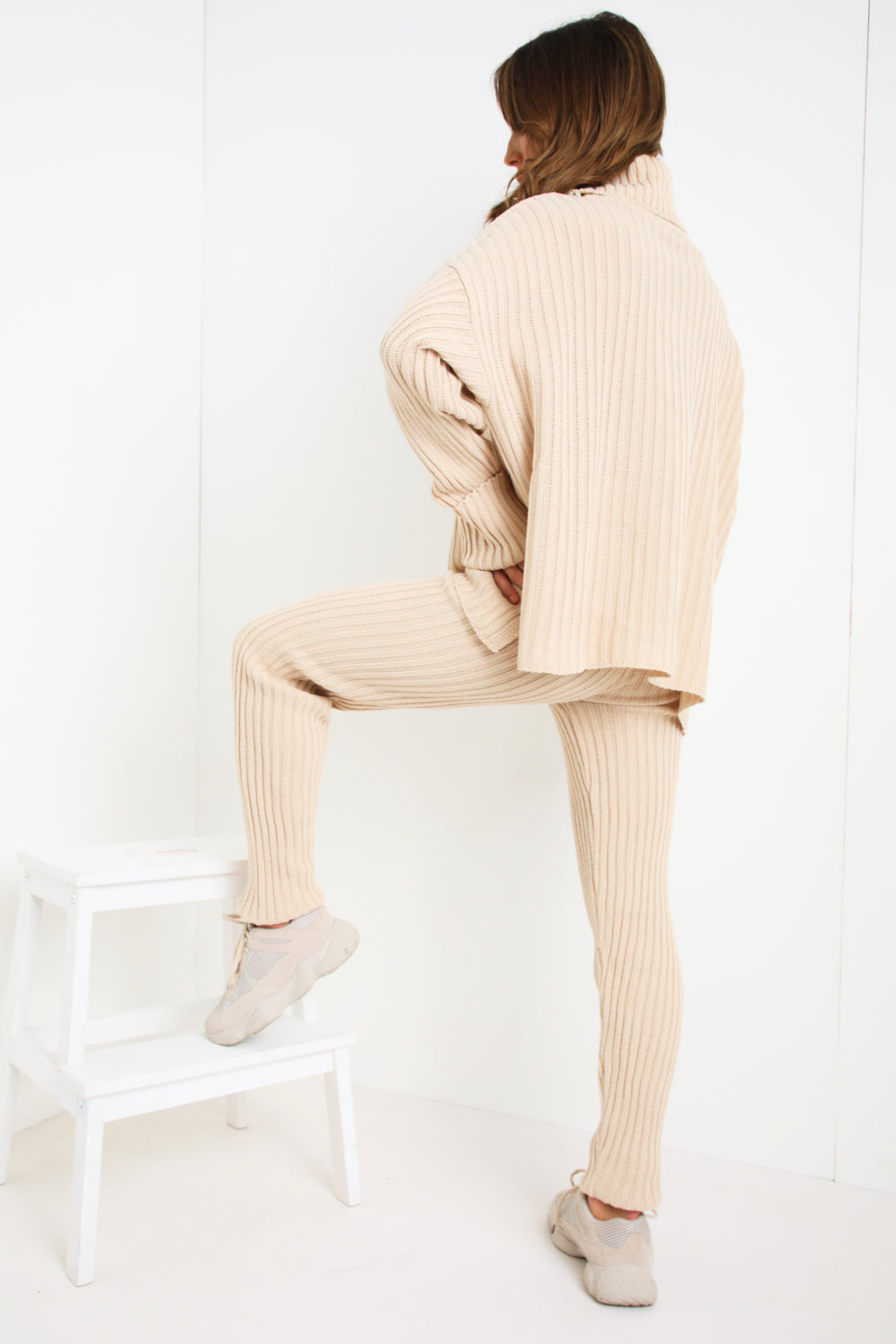 Stone Oversized Roll Neck Co-Ord