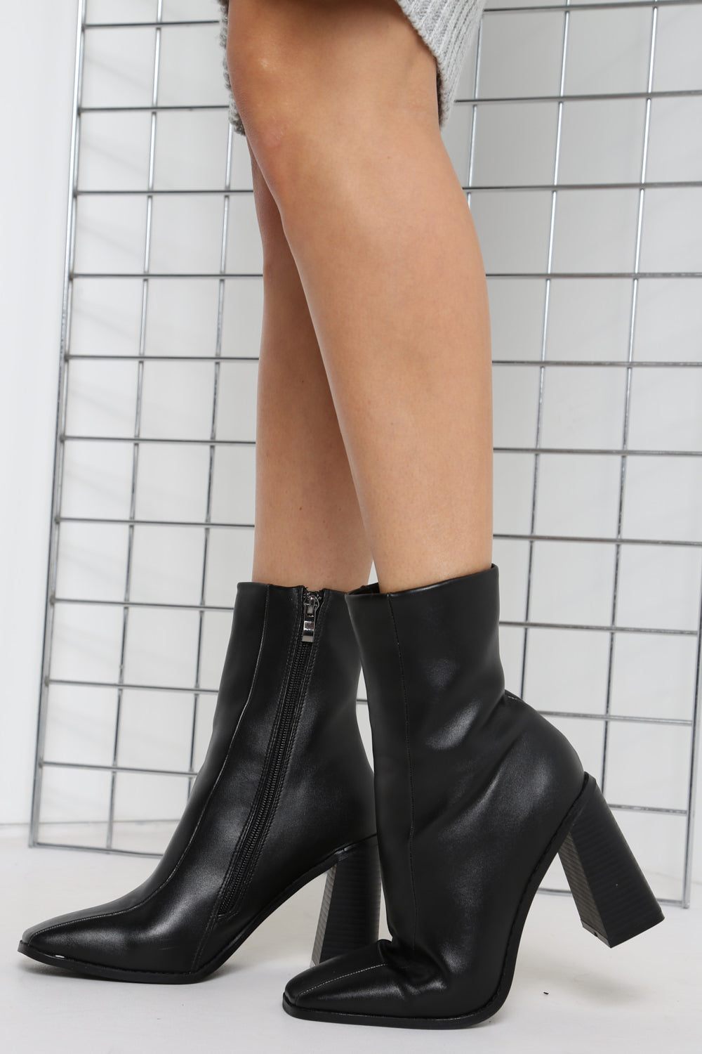 Black Block Heeled Boots