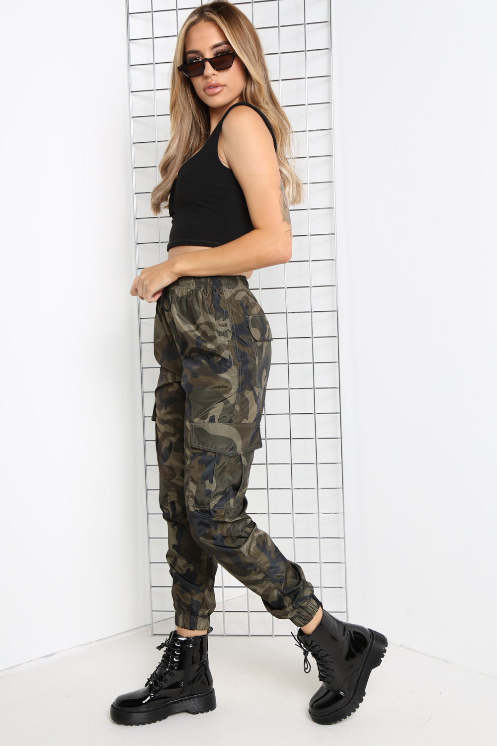 Camouflage Shell Pocket Cargo Trousers