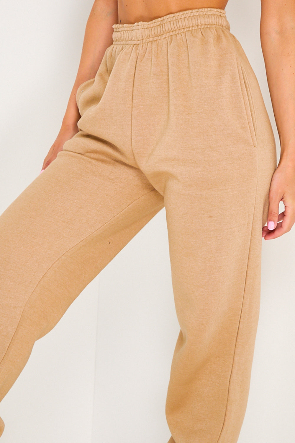 Camel Oversized Casual Joggers
