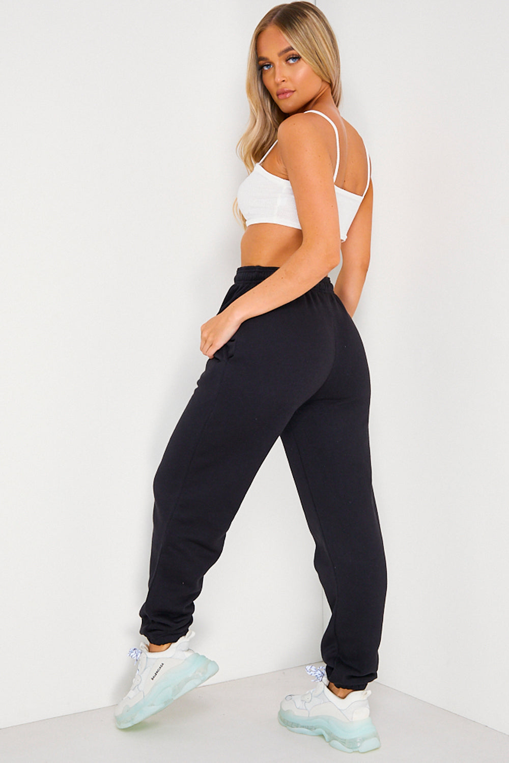 Black Oversized Casual Joggers
