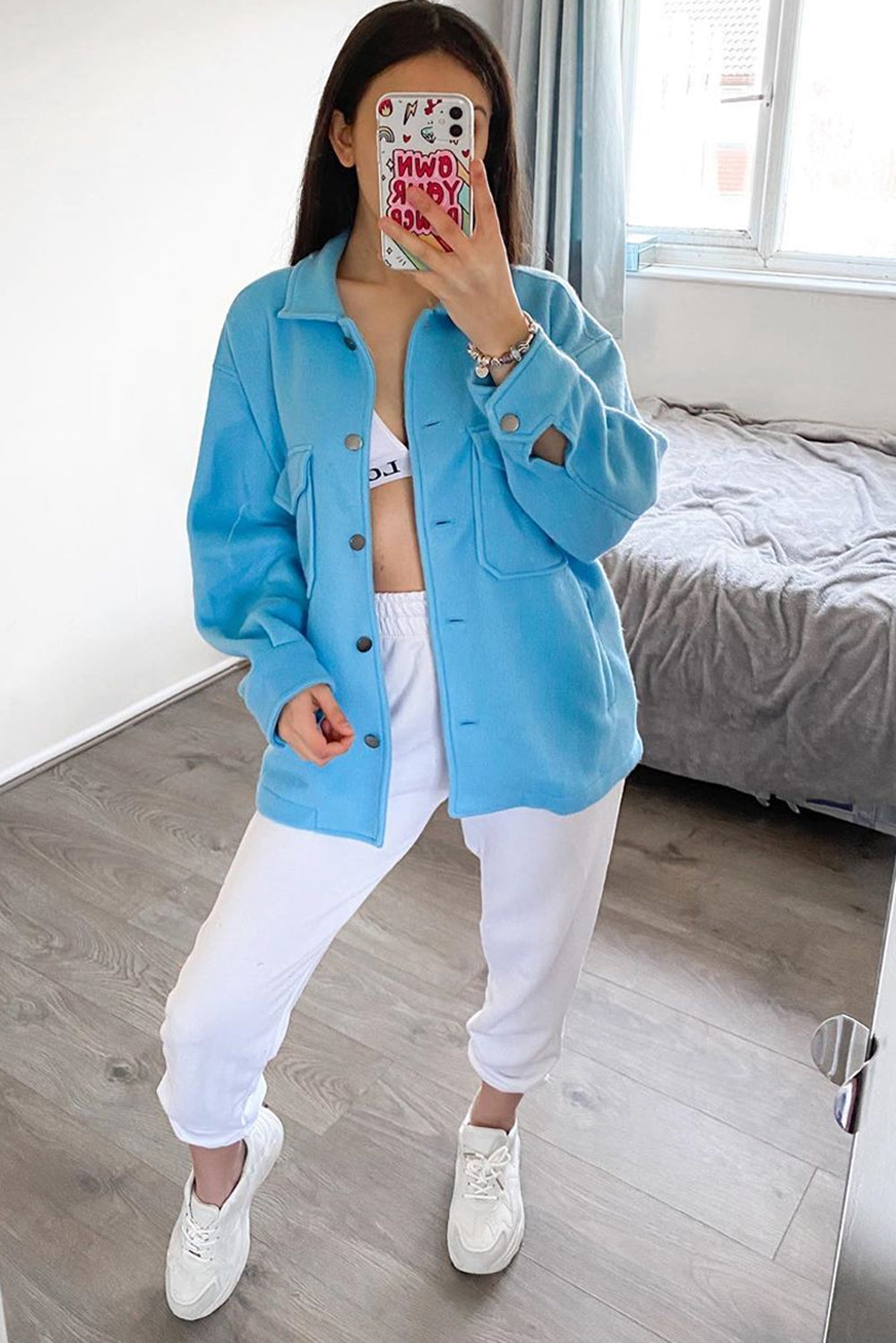 Blue Oversized Shacket