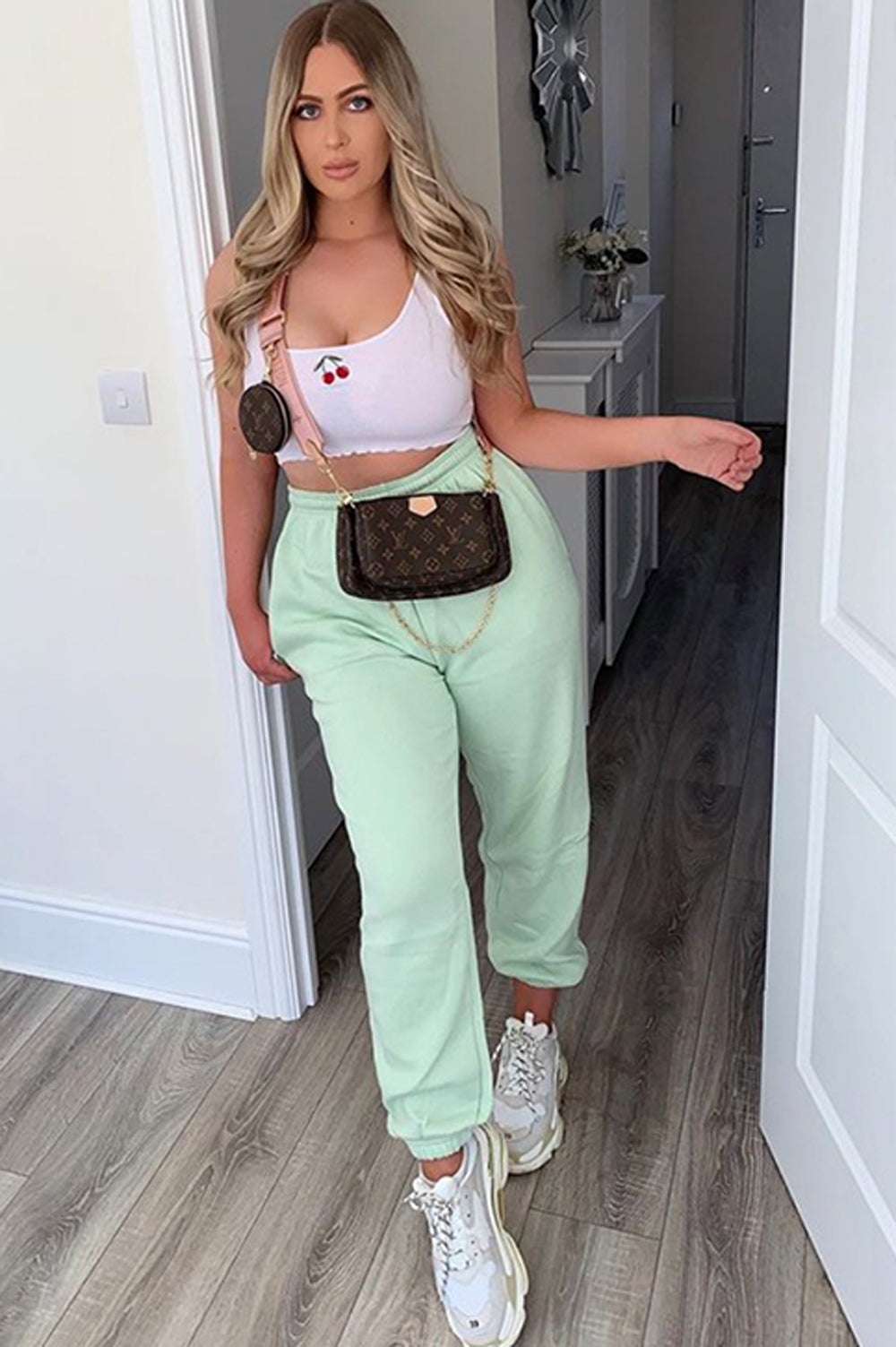Mint Oversized Casual Joggers