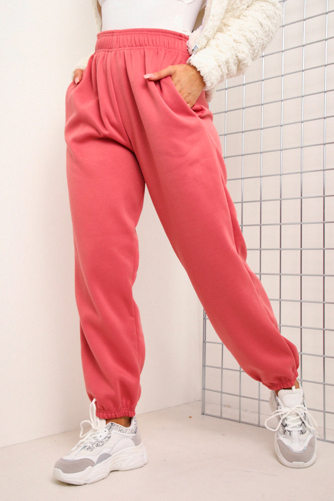 Pink Oversized Joggers
