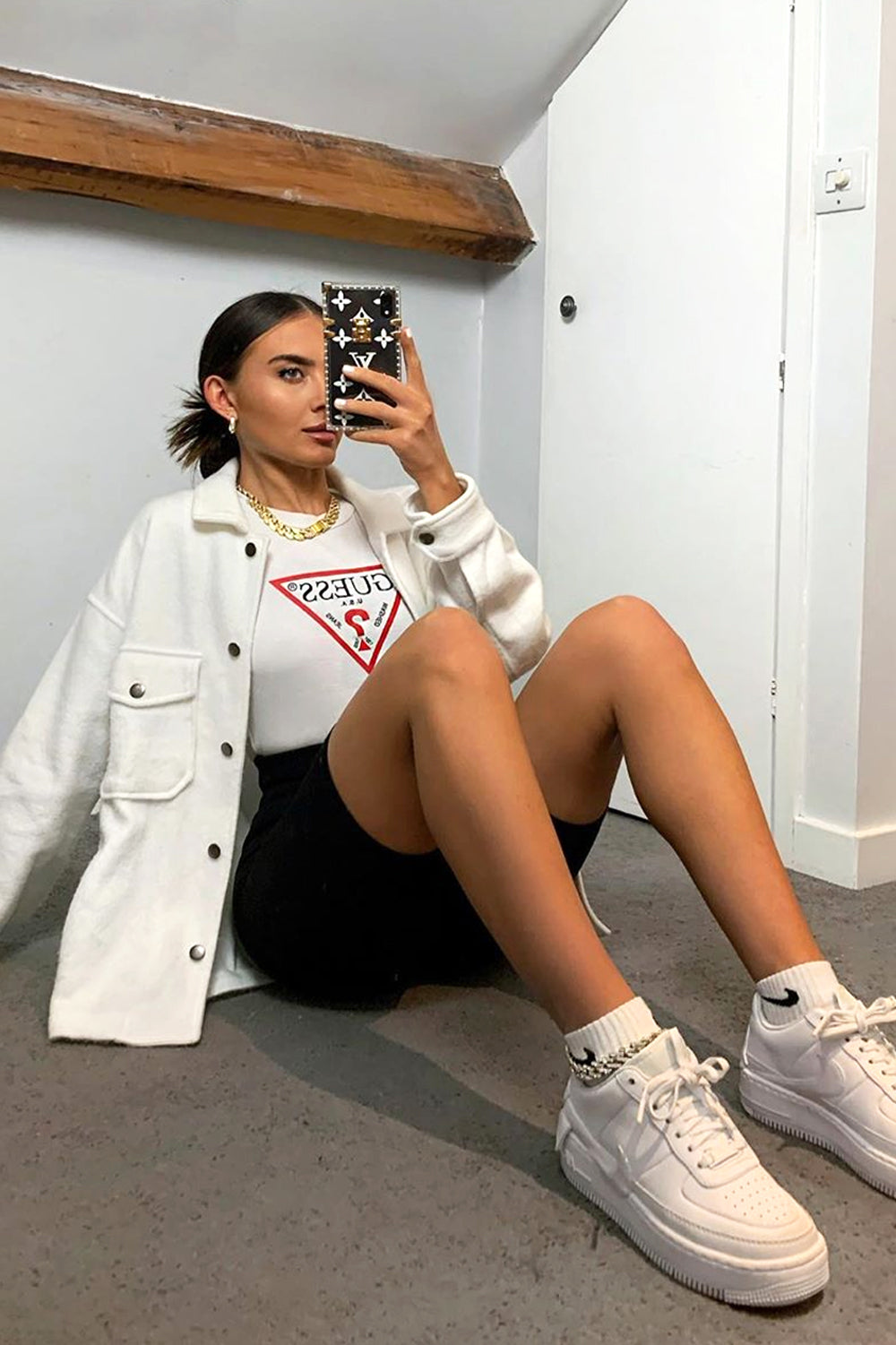 White Oversized Shacket
