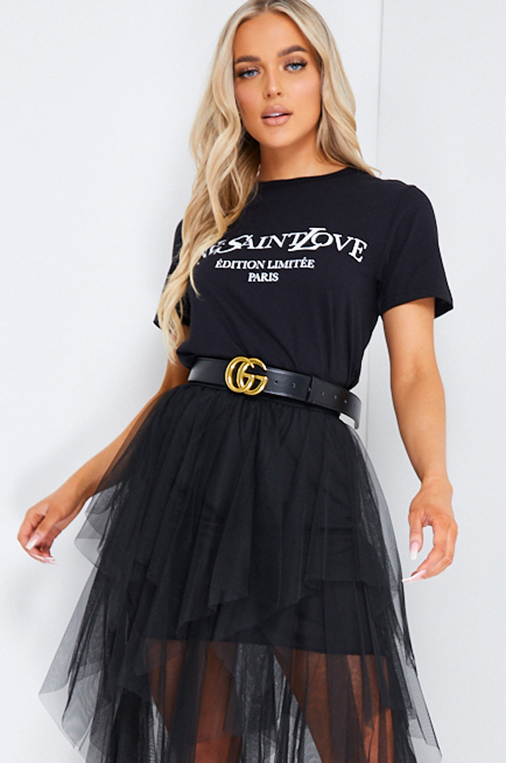Black Ye Saint Love Slogan Oversized T-shirt