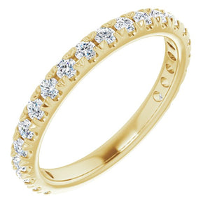 14K Yellow 5/8 CTW Diamond French-Set Anniversary Band