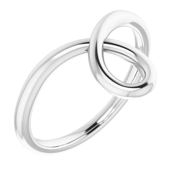 Sterling Silver Looped Bypass Ring