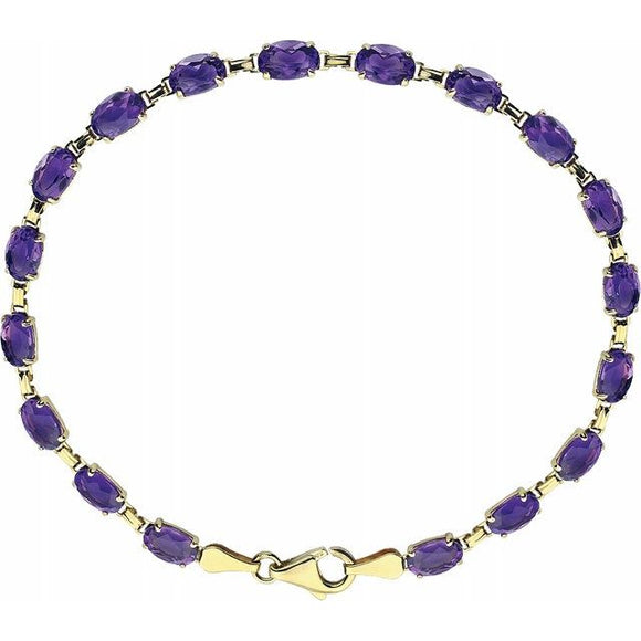14K Yellow Gold Gemstone Bracelet