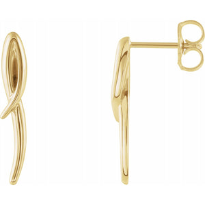 14K Yellow Freeform Earrings