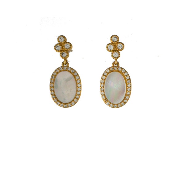 Amazonian Allure Crescent Stone Earrings