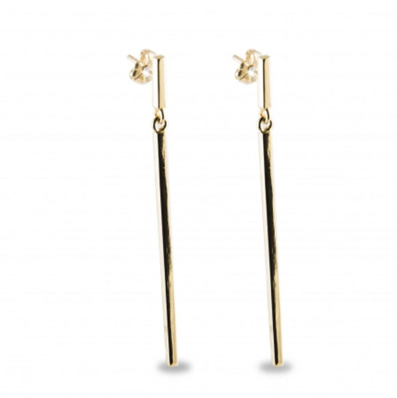 Vermeil Long Stick Drop Earring