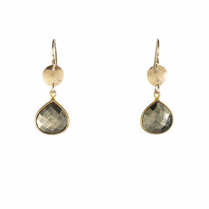 Pyrite Gold-Filled Earrings