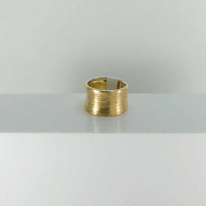 18k & Sterling Silver Carved Cigar Band