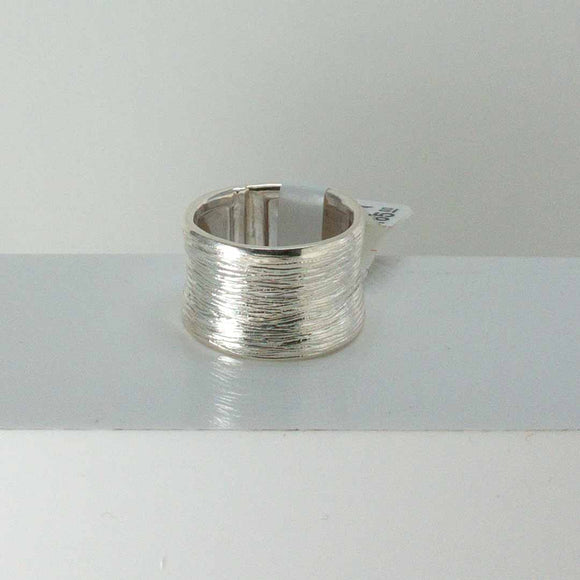 Sterling Silver Carved Cigar Band