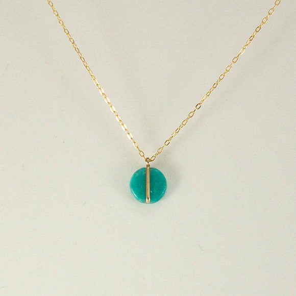 Meridian Gold-filled Necklace (amazonite)