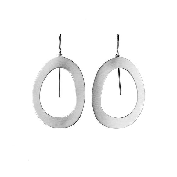 Stepping Stone Link Wire Earrings