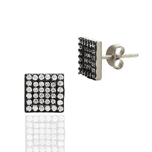 Small Pavé Square Stud Earrings