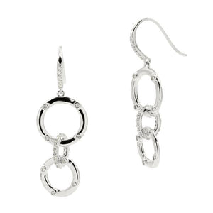 Radiance Linked Large Drop Earrings