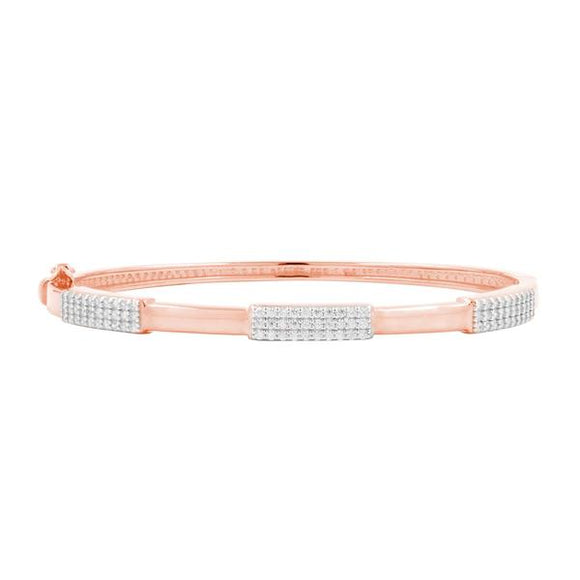Radiance Rose Gold Thin Hinged Bangle
