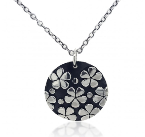 Flower Print Disc Pendant