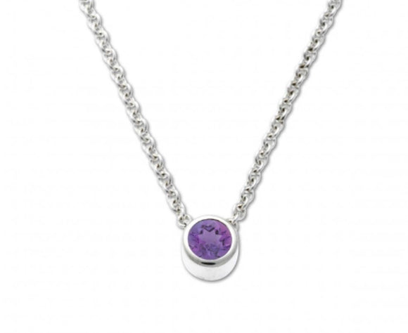 Bezel Pendant with Amethyst