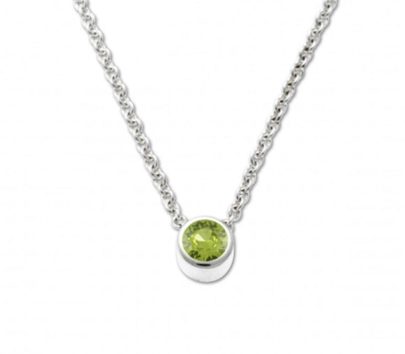 Bezel Pendant with Peridot