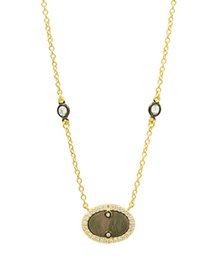Color Theory Pave Oval Necklace