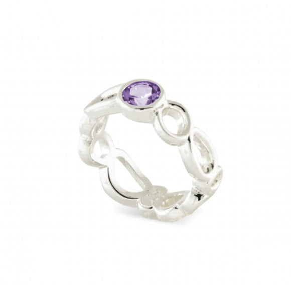 Touchstone Amethyst Ring, size 7