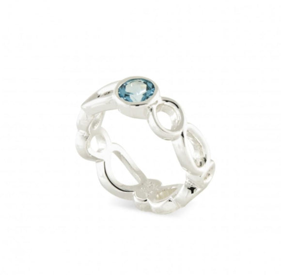 Touchstone Blue Topaz Ring, size 7