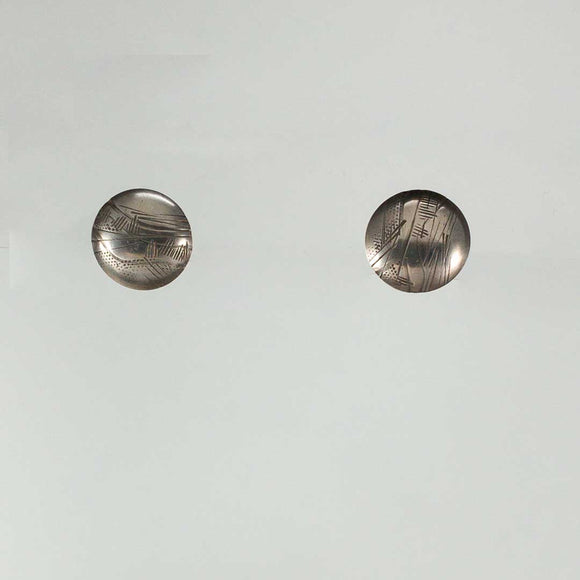 Domed DIsc Stud Earrings