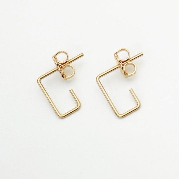 Mini Rectangle Earrings