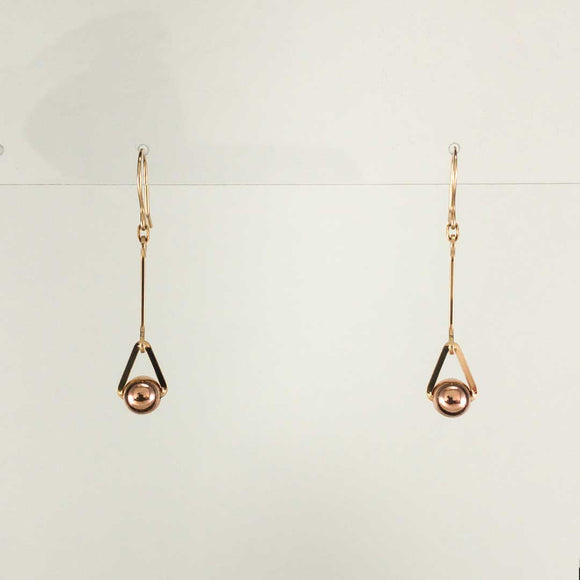 Orb Gold-filled/Rose Gold-filled Earrings (long)