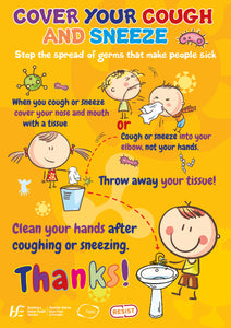Cough Etiquette Poster for Primary schools