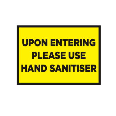 Covid-19 Use Hand Sanitiser Sign