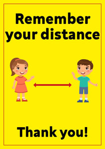 Covid-19 Child Friendly Keep Your Distance Poster