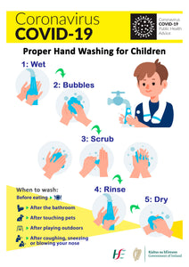 Covid 19 Poster on Proper Hand Washing For Children